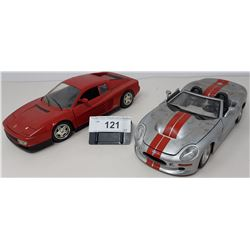 Pair Of Die Cast, Shelby, Ferrari