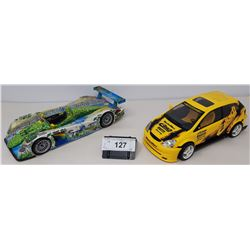 Pair Of Die Cast, Audi R8, 2002 Honda Civic