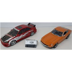 Pair Of Die Cast, 1971 Datson 240, Honda Civic