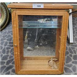 Small Oak Display Case