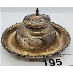 Sterling Silver Inkwell With Lid