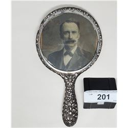 Ornate Sterling Silver Mirror Victorian