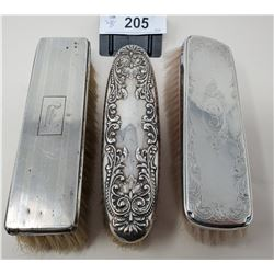 3 Sterling Silver Brushes
