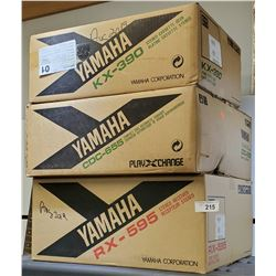 3 Yamaha Components New In Box, Cassette Deck, Compact Disc, And Stereo Receiver