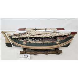 Model Of A Wooden Sail Boat