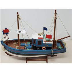 Hand Carved Model Of Fish Boat