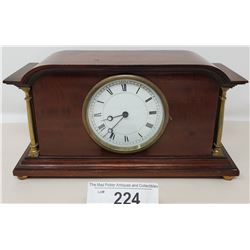 Nice Quality Key Wind With Key Edwardian Mantle Clock