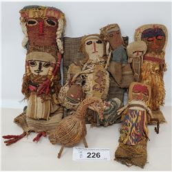 Group Of Early South American Hand Made Dolls
