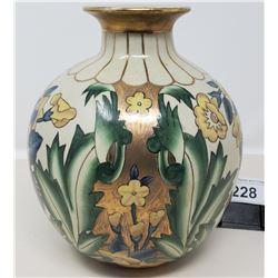 Hand Decorated Vintage Vase Signed Gfieravion