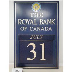 Vintage Royal Bank Calendar