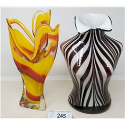Art Glass Vase In The Form Of A Bust, And Decorative Art Glass Vase