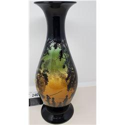 Vintage Porcelain Vase With Decorative Scene