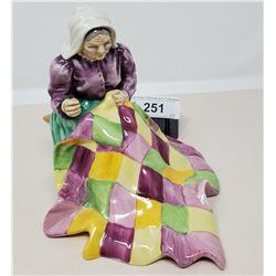 Royal Petik Porcelain Lady Quilting