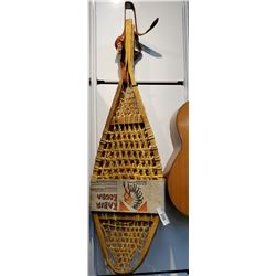 Original Pair Of Nos Snow Shoes With Indian Motif Wrapper