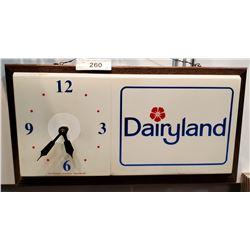 Dairyland Advertising Clock