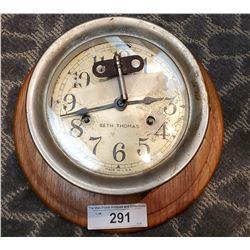 Vintage Ships Clock With Key Signed Seth Thomas