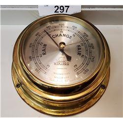 Viking Brass Barometer In Great Shape