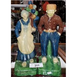 Matching Pair Of Balloon Lady And Man Signed Belgium