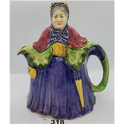 Figural Tea Pot With Damage Under Base
