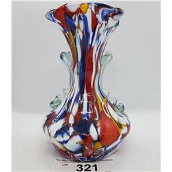 Decorated Art Glass Vase