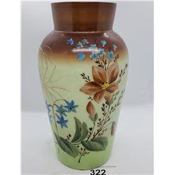 English Hand Painted Bristol Vase