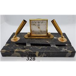 Marble Based Pen Writing Set With Clock