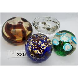 4 Collectible Vintage Paper Weights