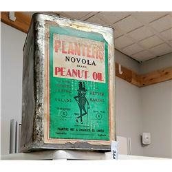 Vintage Planters Peanut Oil Tin With Original Label