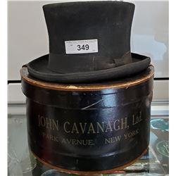 Early Gentleman'S Hat With Original Hat Box