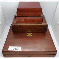 4 Vintage Wooden Cases