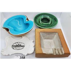 4 Decorative Ashtrays