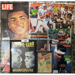 Group Of Early Magazines Including Cassius Clay And Ba Football Guy