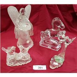 4 Glass Sculpture Vintage