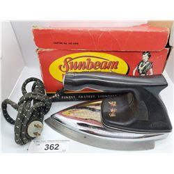 Original Sunbeam Iron In Original Decorative Box