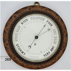 Highly Carved Barometer Circa 1900