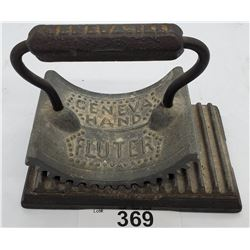 Victorian Fluted Cast Iron On Stand