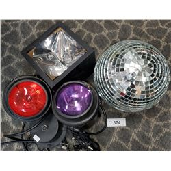 Disco Ball And Stage Lights