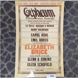 Original Orpheum Poster