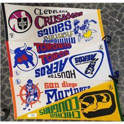 6 Vintage Sports Pennants