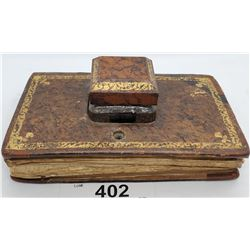 Vintage Lidded Inkwell Made To Look Like A Book