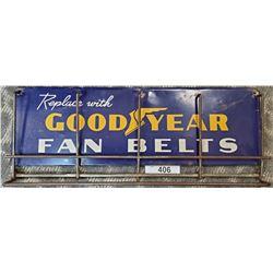 Good Year Fan Belt Advertising Sign
