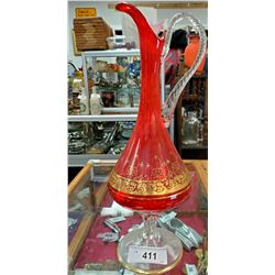 Large Art Glass Vase
