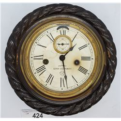 Rare Lever Escapement Clock With Carved Frame By Ansonia