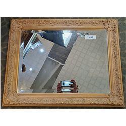 Bevelled Glass Mirror, Carved Frame