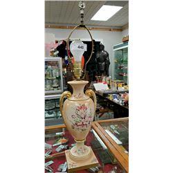 Hand Painted Porcelain Vintage Lamp