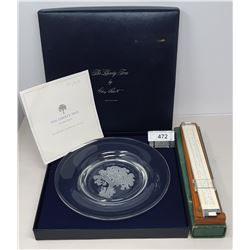 Box Crystal Plate By Canadian Mint The Liberty Tree Plus Architectural Gauge And Box