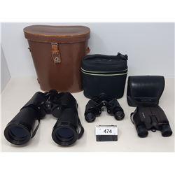 3 Pairs Of Binoculars