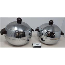 2 Art Deco Ice Buckets With Penguin Design