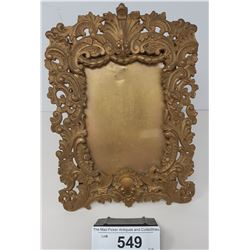 Early Brass Art Nouveau Standing Picture Frame