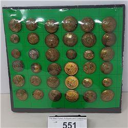 Large Vintage Military Uniform Buttons